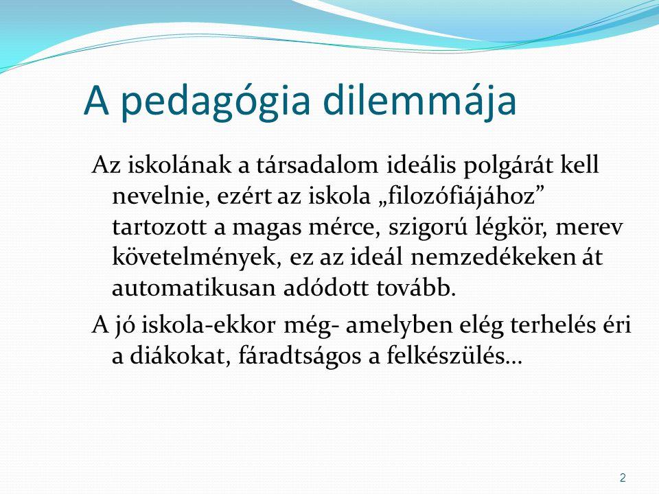 A pedagógia dilemmája
