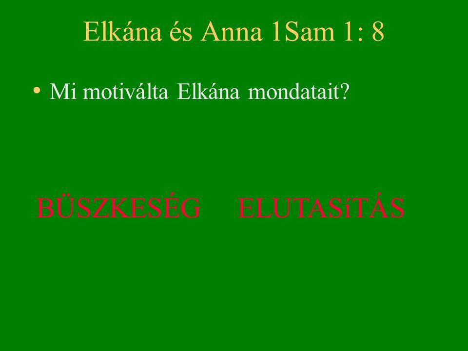 Elkána és Anna 1Sam 1: 8 BÜSZKESÉG ELUTASíTÁS