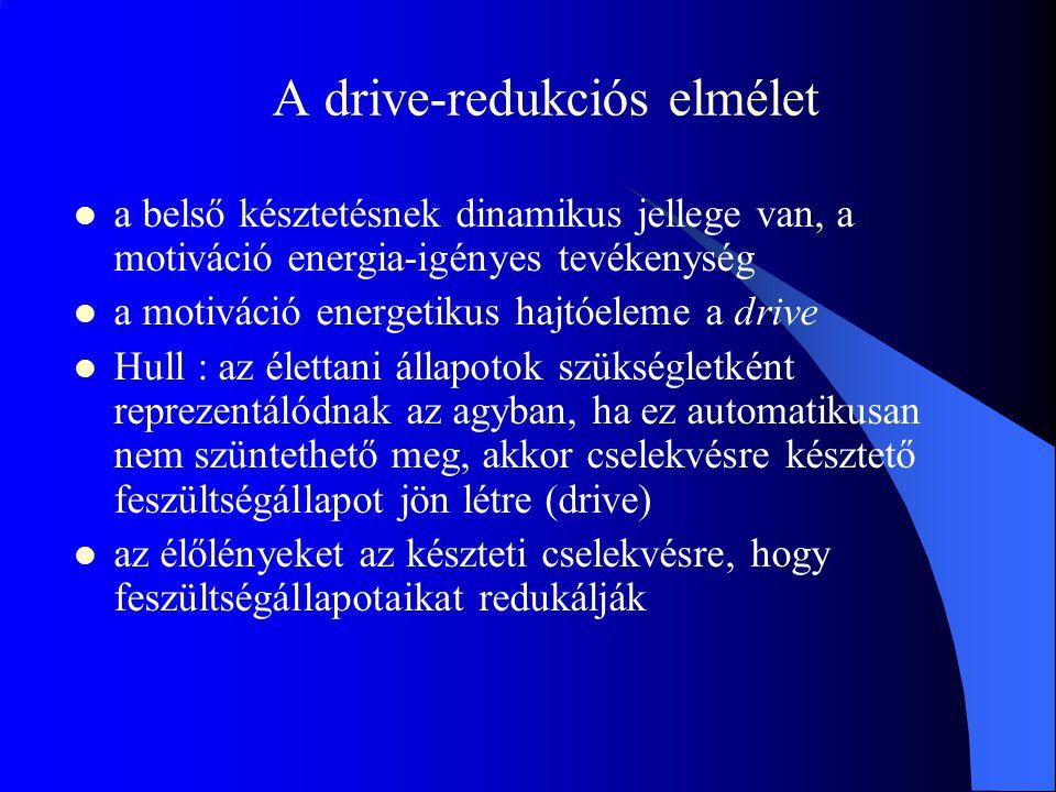 A drive-redukciós elmélet