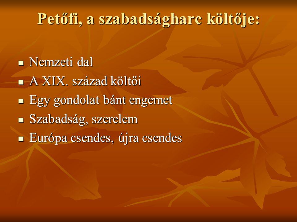 Petőfi, a szabadságharc költője: