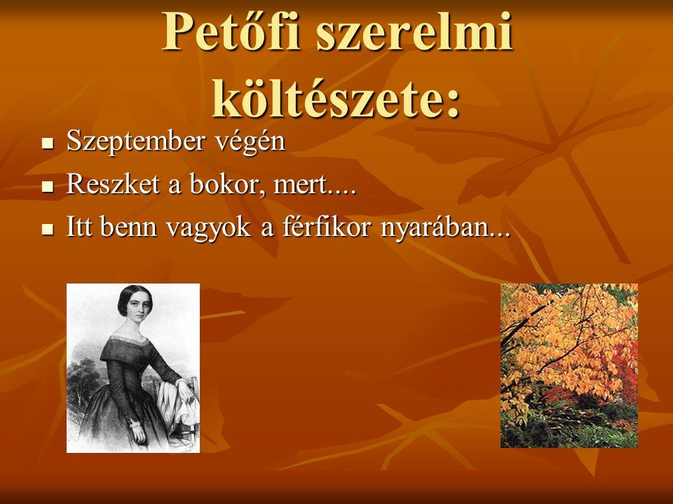Petőfi szerelmi költészete: