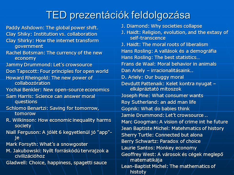 TED prezentációk feldolgozása