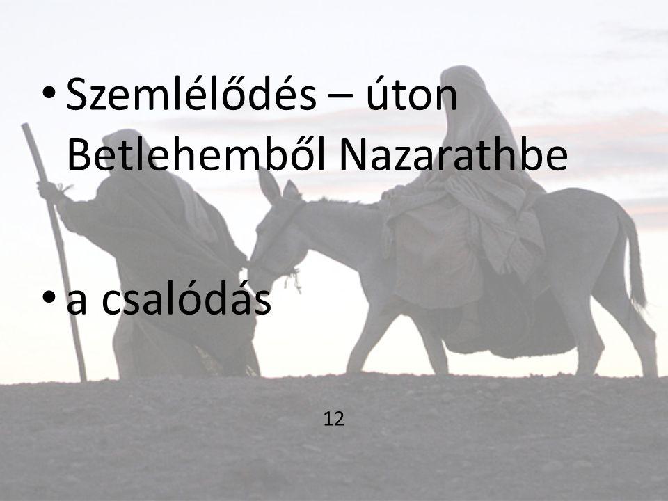 Szemlélődés – úton Betlehemből Nazarathbe