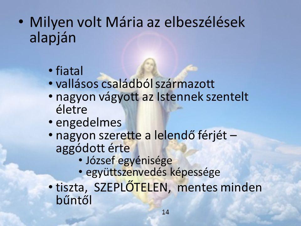 Milyen volt Mária az elbeszélések alapján