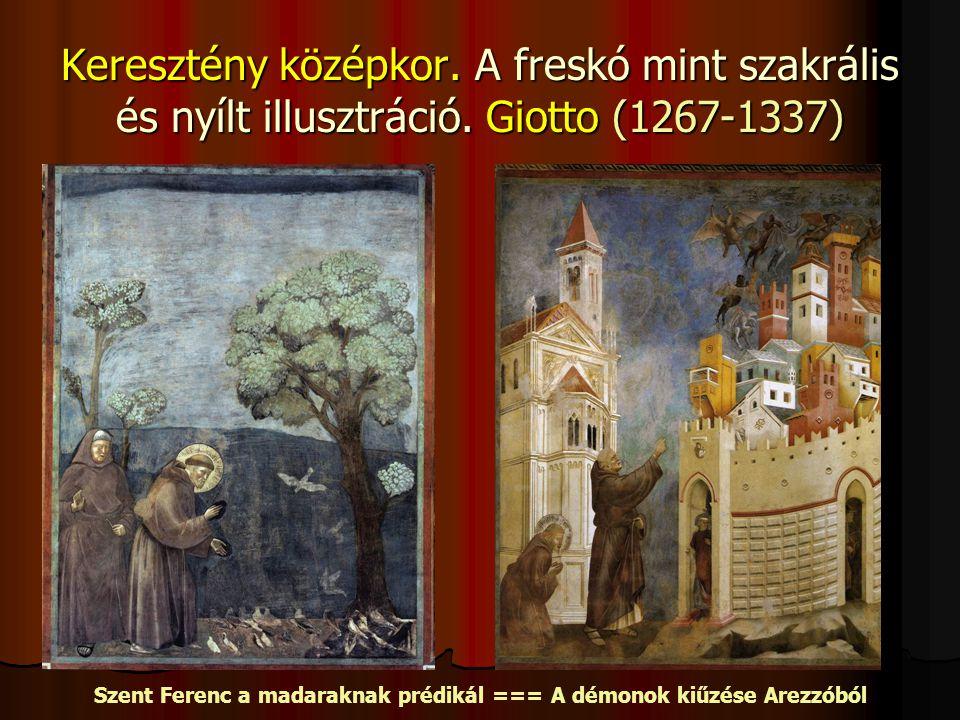 Szent Ferenc a madaraknak prédikál === A démonok kiűzése Arezzóból