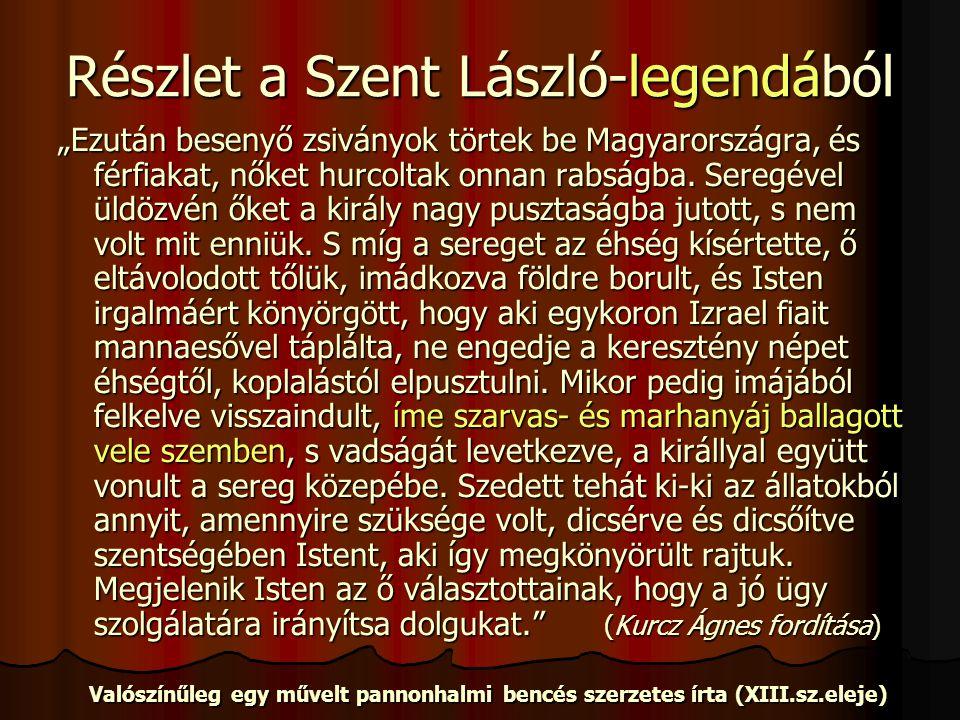 Részlet a Szent László-legendából