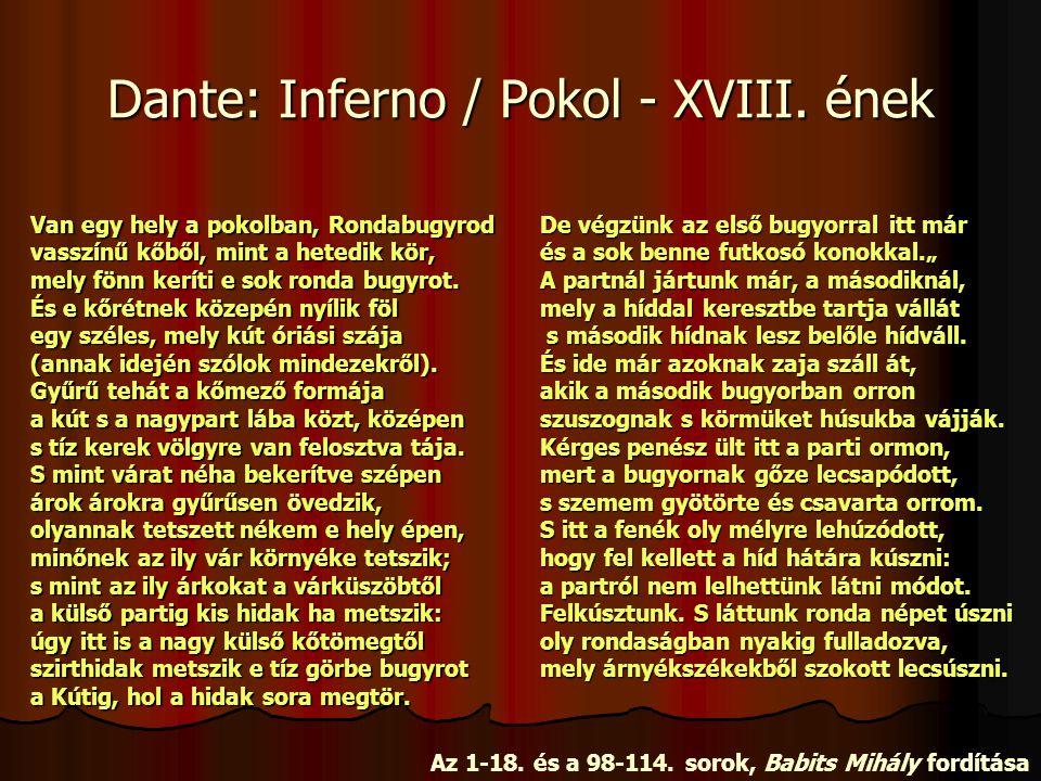 Dante: Inferno / Pokol - XVIII. ének