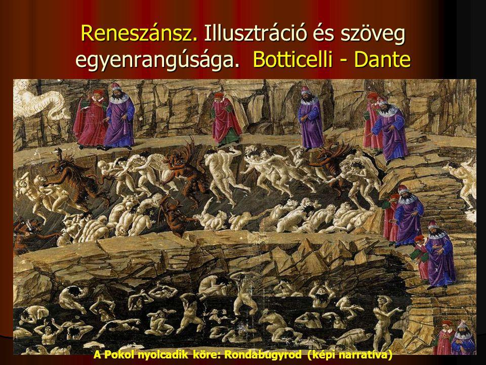 Reneszánsz. Illusztráció és szöveg egyenrangúsága. Botticelli - Dante
