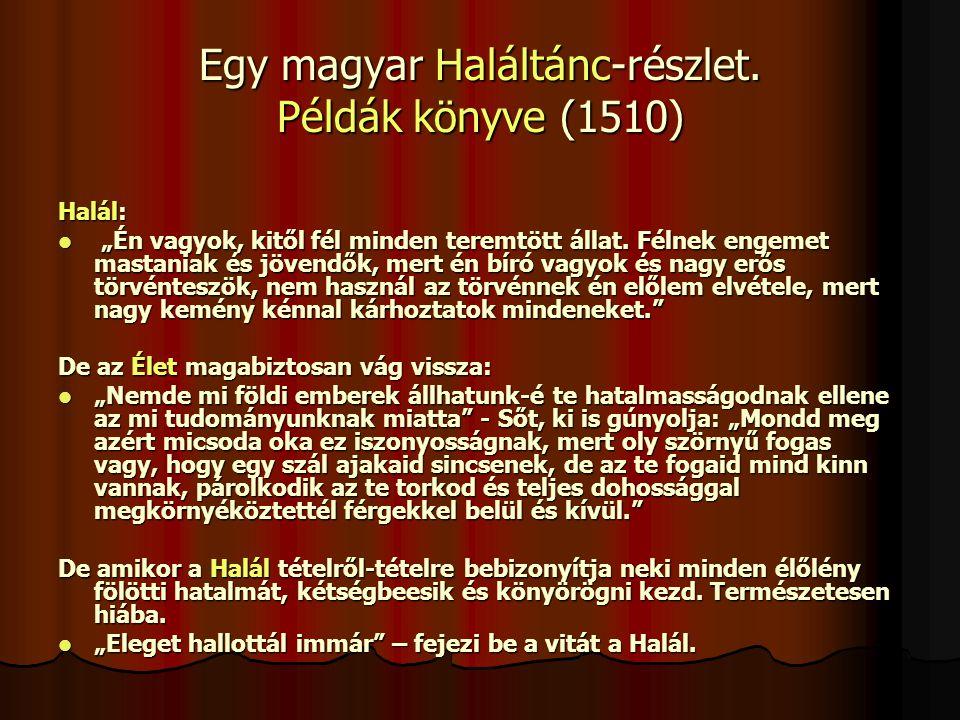 Egy magyar Haláltánc-részlet. Példák könyve (1510)