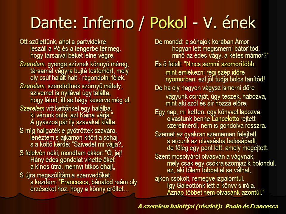 Dante: Inferno / Pokol - V. ének