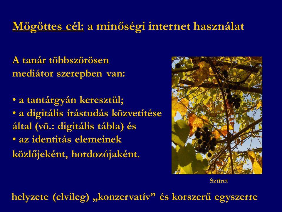Mögöttes cél: a minőségi internet használat