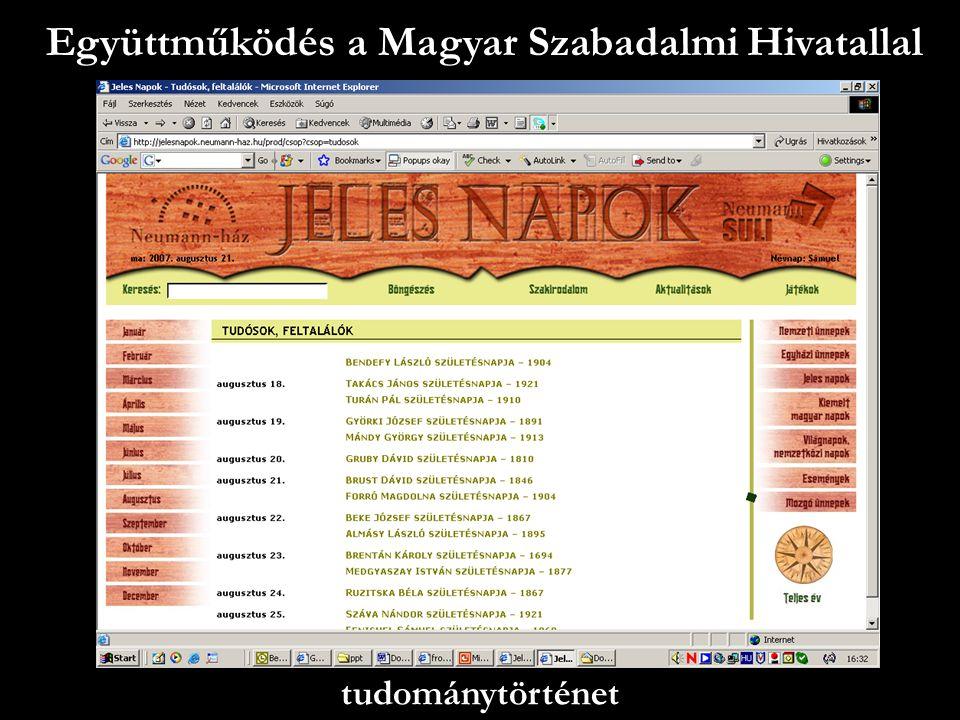 Együttműködés a Magyar Szabadalmi Hivatallal
