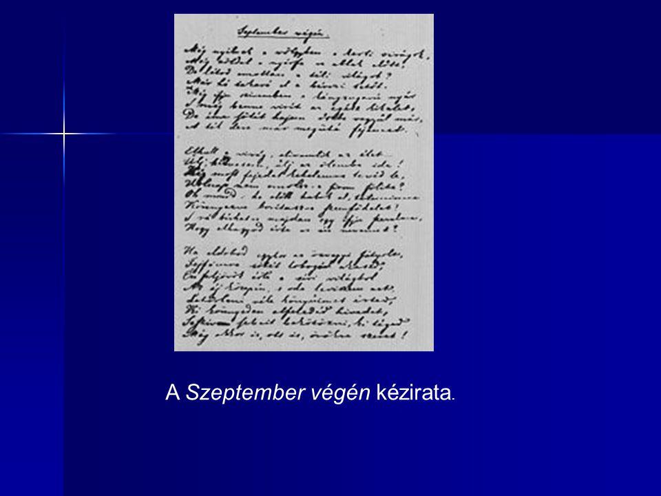 A Szeptember végén kézirata.