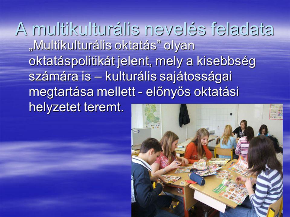 A multikulturális nevelés feladata