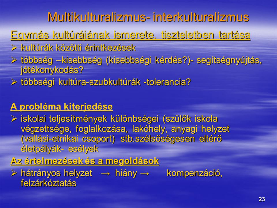 Multikulturalizmus- interkulturalizmus