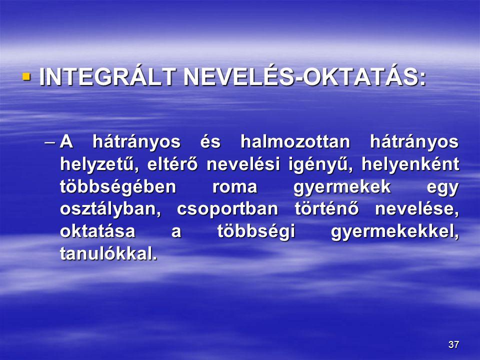 INTEGRÁLT NEVELÉS-OKTATÁS: