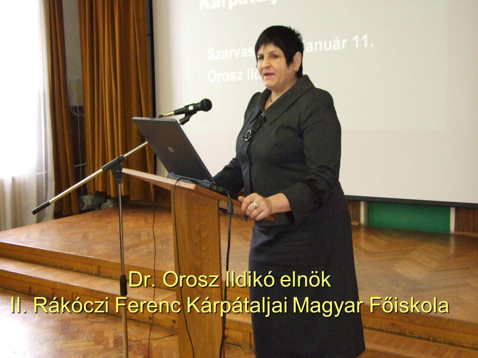 Dr. Orosz Ildikó elnök II. Rákóczi Ferenc Kárpátaljai Magyar Főiskola