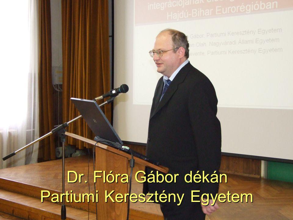Dr. Flóra Gábor dékán Partiumi Keresztény Egyetem