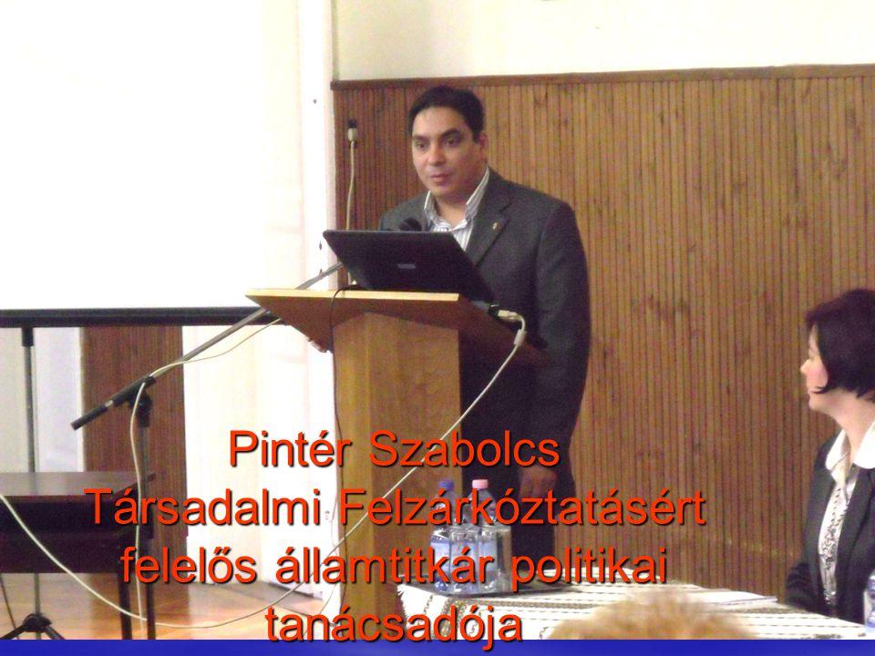 Pintér Szabolcs Társadalmi Felzárkóztatásért felelős államtitkár politikai tanácsadója