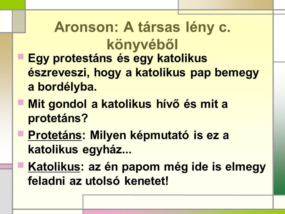 Aronson: A társas lény c. könyvéből