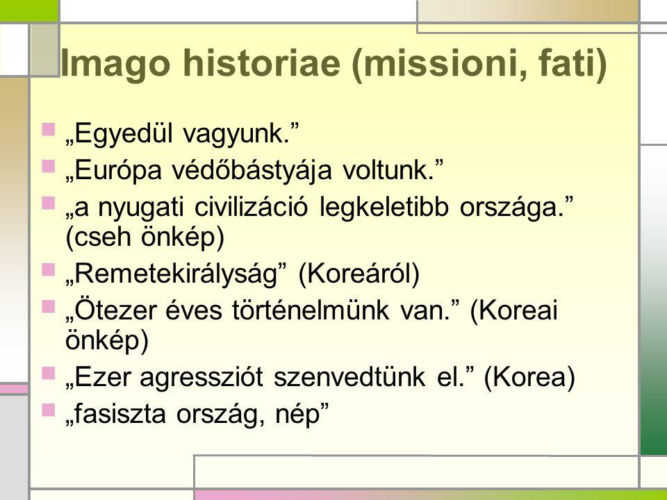 Imago historiae (missioni, fati)