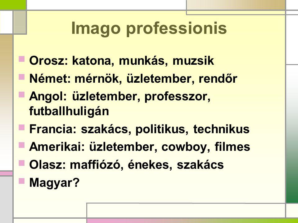Imago professionis Orosz: katona, munkás, muzsik