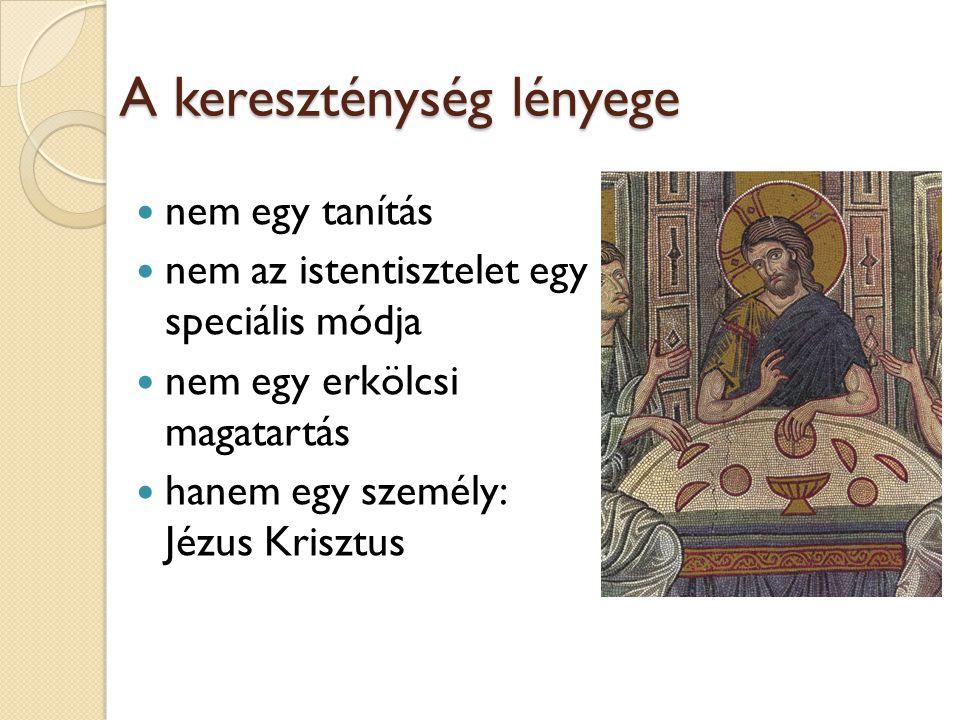 A kereszténység lényege