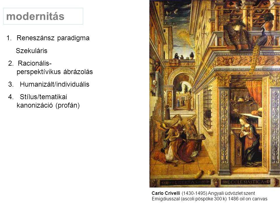 modernitás Reneszánsz paradigma Szekuláris