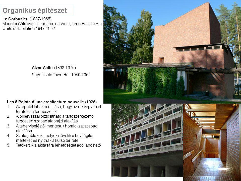 Organikus építészet Le Corbusier (1887-1965)