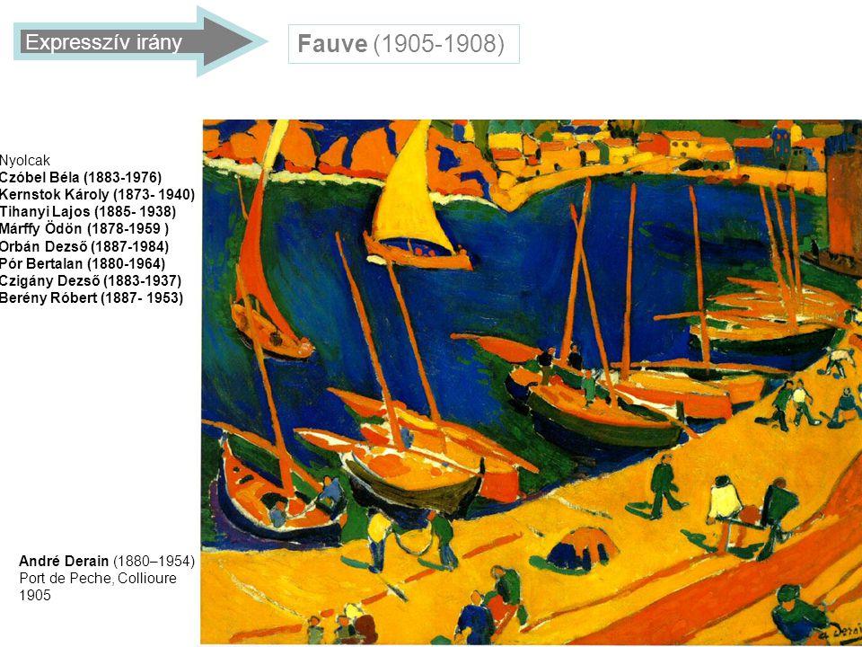 Fauve (1905-1908) Expresszív irány Nyolcak Czóbel Béla (1883-1976)