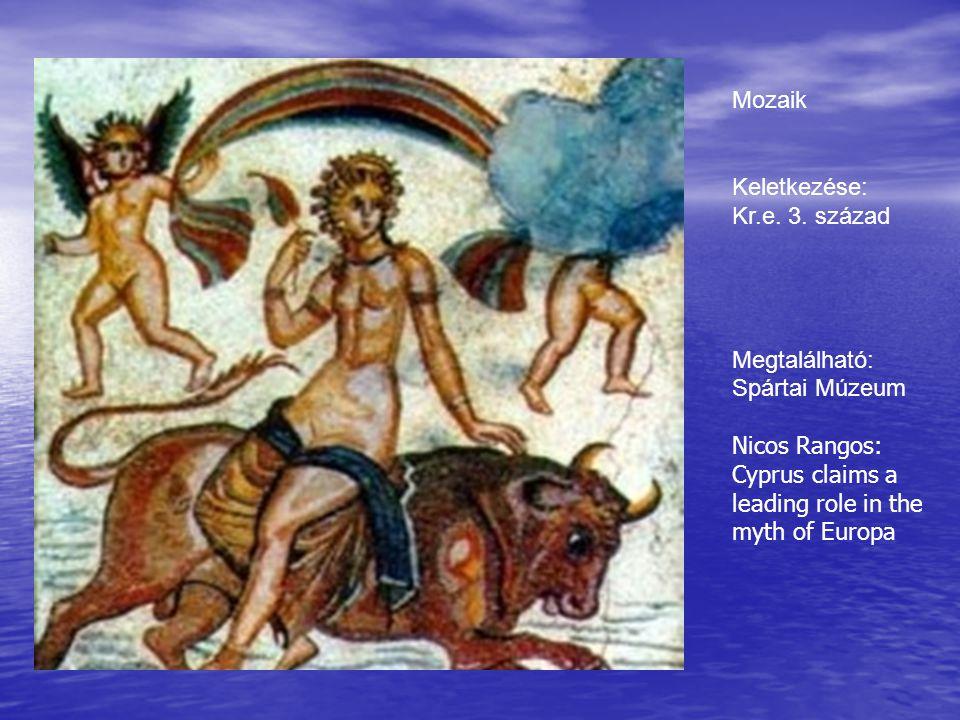 Mozaik Keletkezése: Kr.e. 3. század. Megtalálható: Spártai Múzeum.