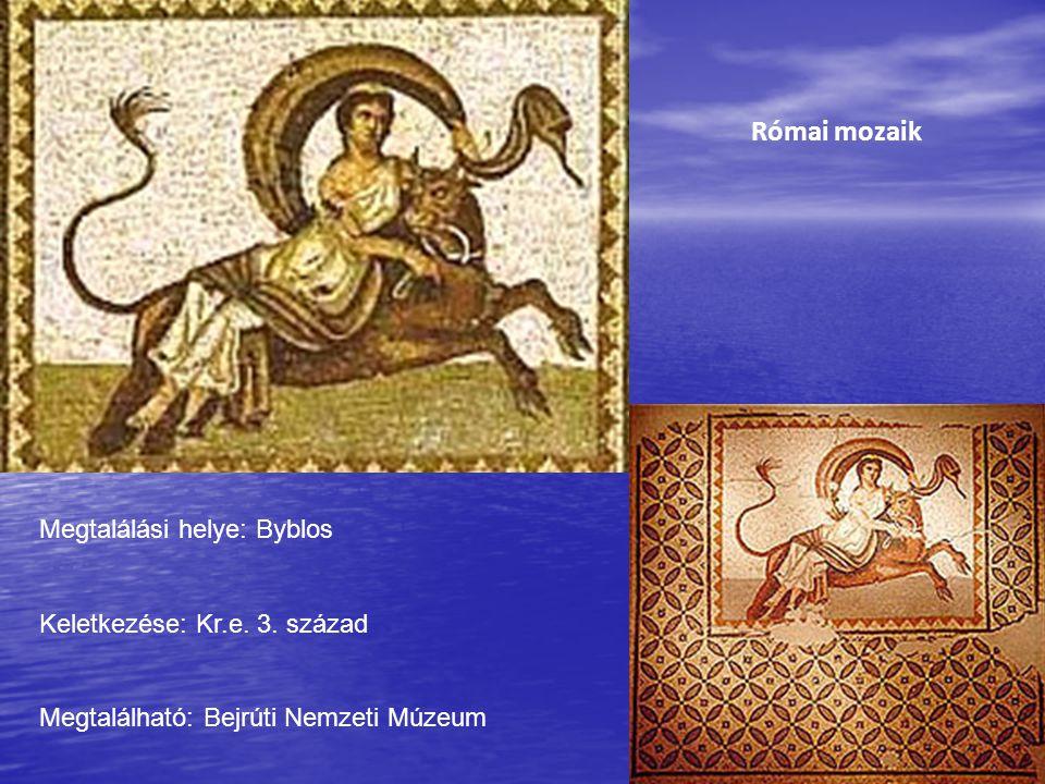 Római mozaik Megtalálási helye: Byblos Keletkezése: Kr.e. 3. század