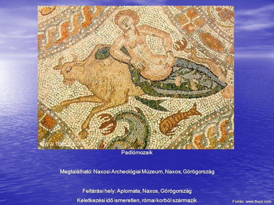 Megtalálható: Naxosi Archeológiai Múzeum, Naxos, Görögország