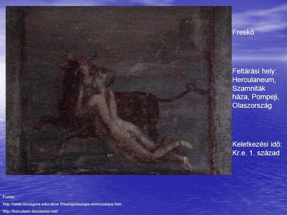 Feltárási hely: Herculaneum, Szamniták háza, Pompeji, Olaszország