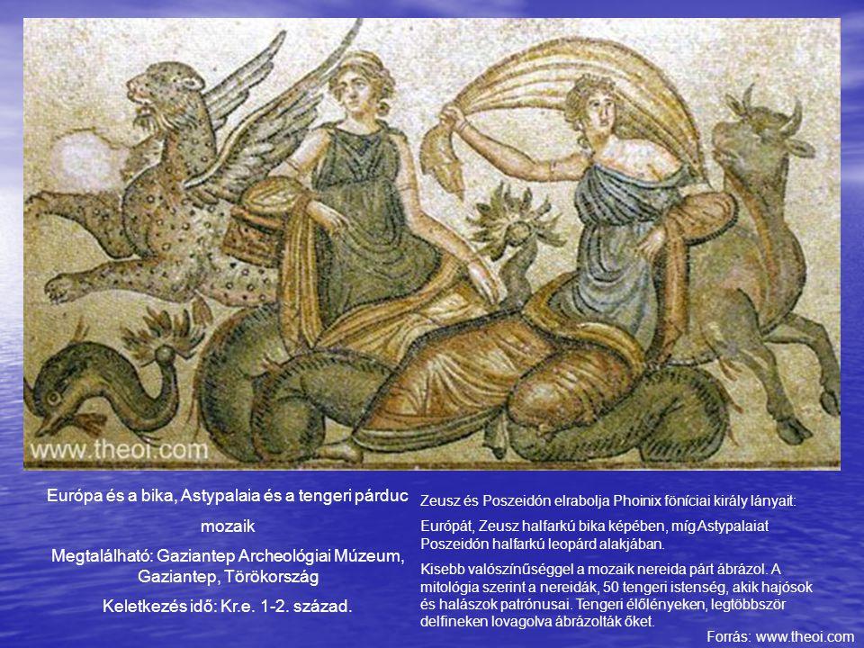 Európa és a bika, Astypalaia és a tengeri párduc mozaik
