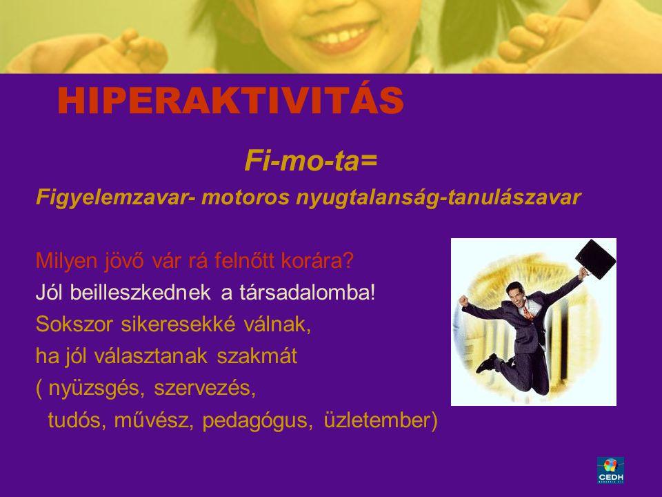 HIPERAKTIVITÁS Fi-mo-ta=