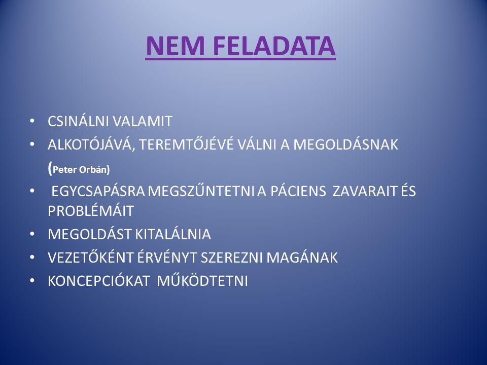 NEM FELADATA CSINÁLNI VALAMIT