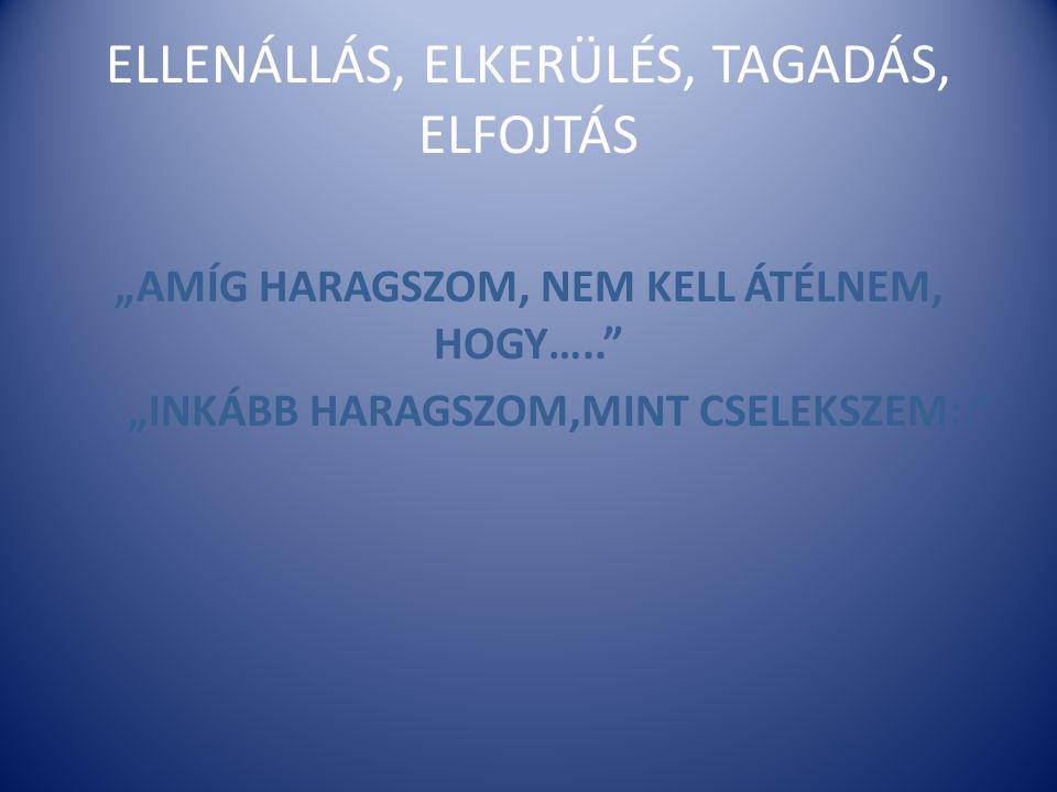 ELLENÁLLÁS, ELKERÜLÉS, TAGADÁS, ELFOJTÁS