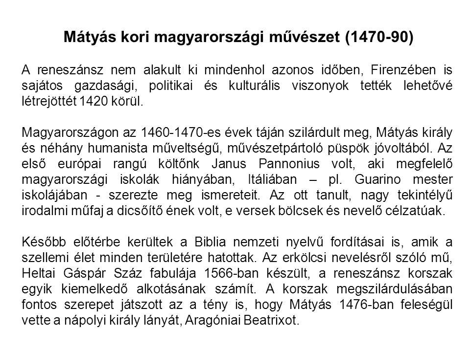 Mátyás kori magyarországi művészet (1470-90)