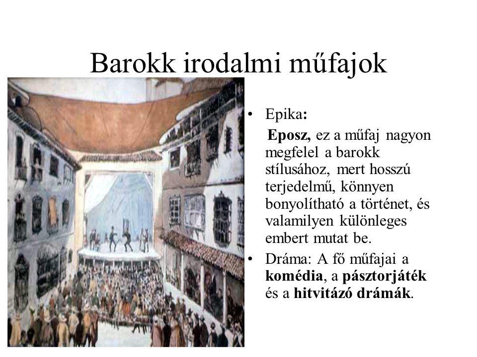 Barokk irodalmi műfajok