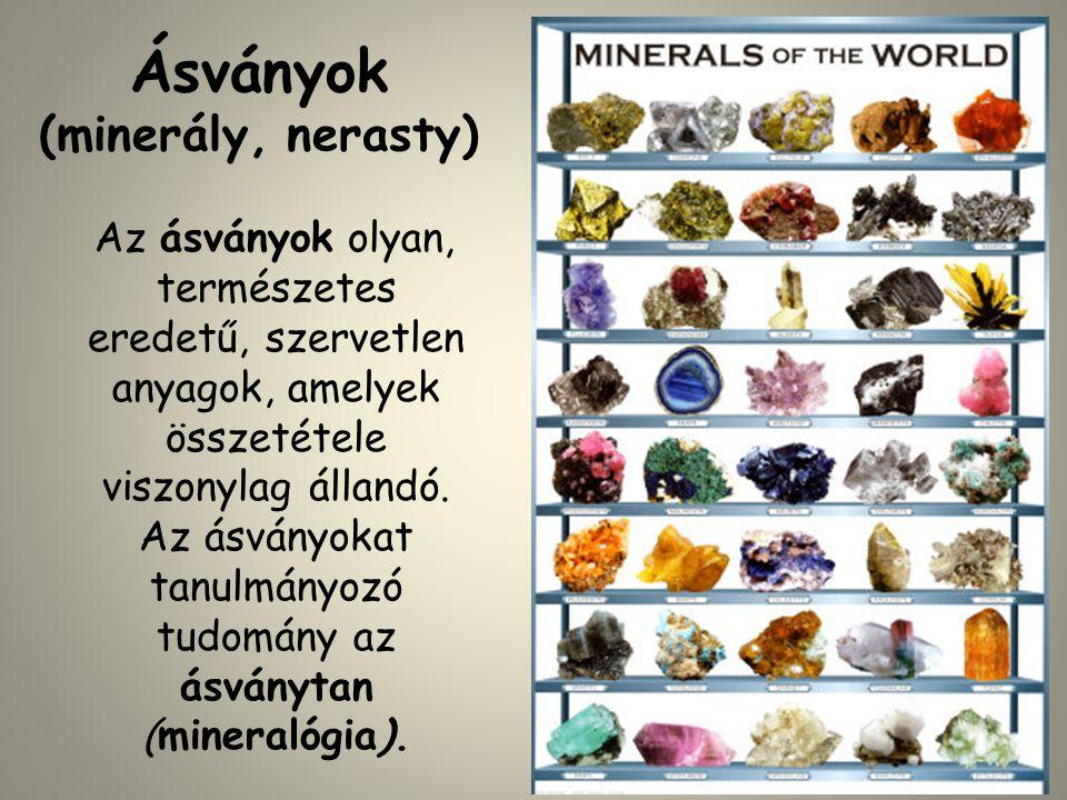 Ásványok (minerály, nerasty)
