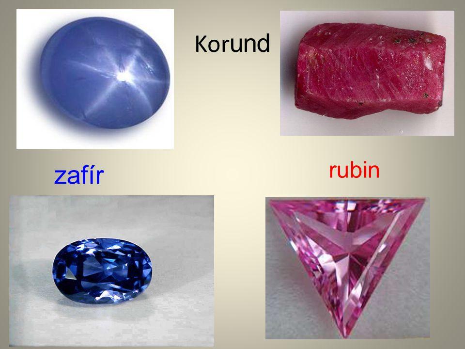 Korund rubin zafír
