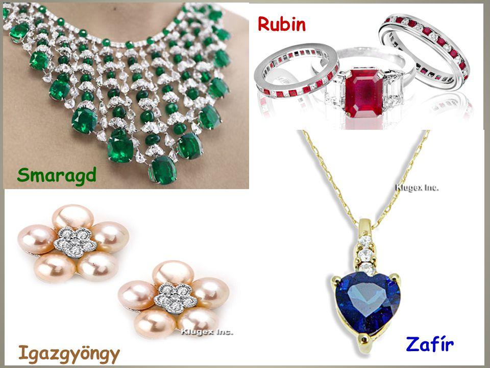 Rubin Smaragd Zafír Igazgyöngy