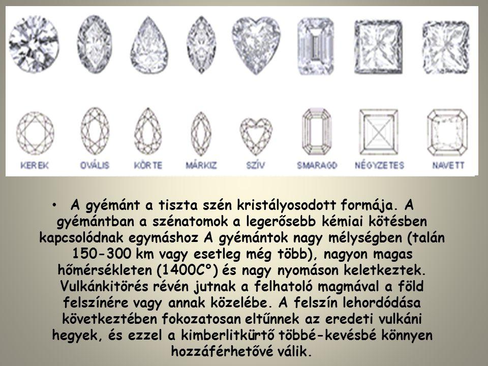 A gyémánt a tiszta szén kristályosodott formája
