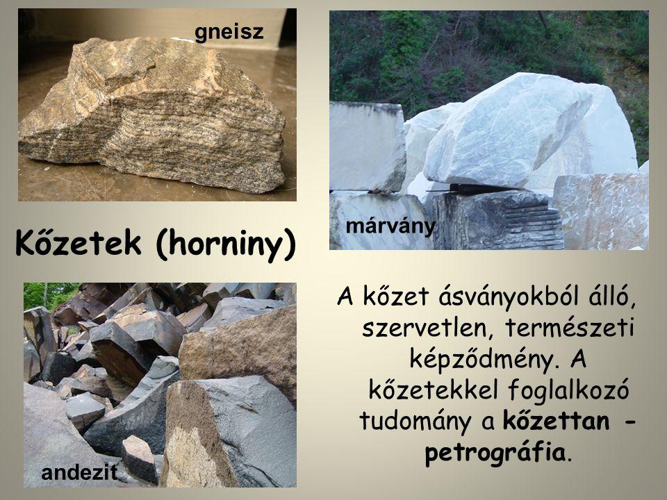 gneisz márvány. Kőzetek (horniny)