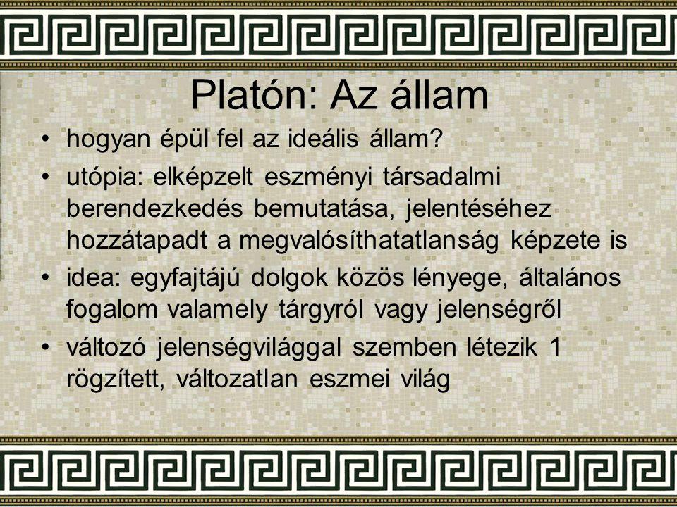 Platón: Az állam hogyan épül fel az ideális állam