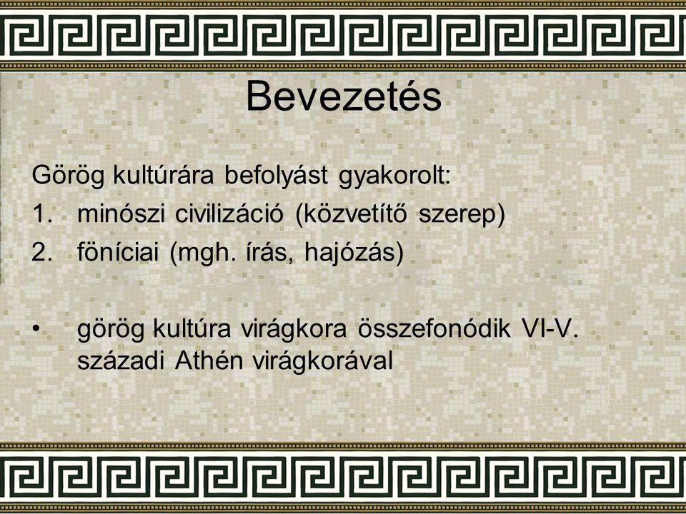 Bevezetés Görög kultúrára befolyást gyakorolt: