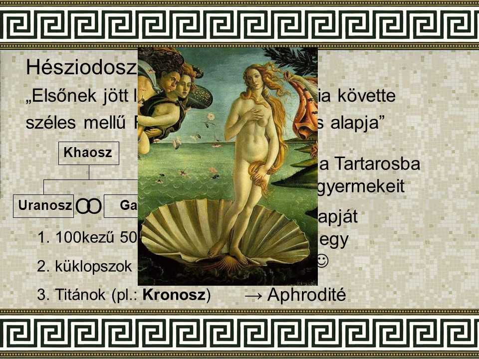 Hésziodosz: Istenek születése