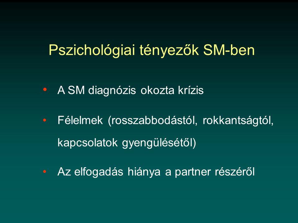 Pszichológiai tényezők SM-ben