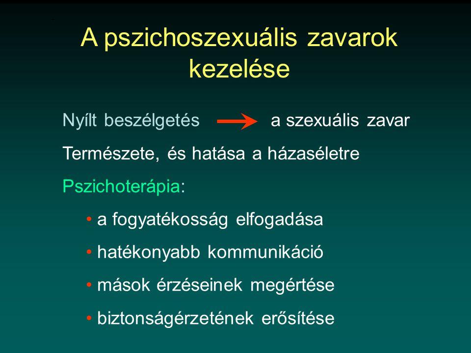 A pszichoszexuális zavarok kezelése